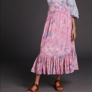 Anthropologie Odessa Tie Dye Maxi Skirt